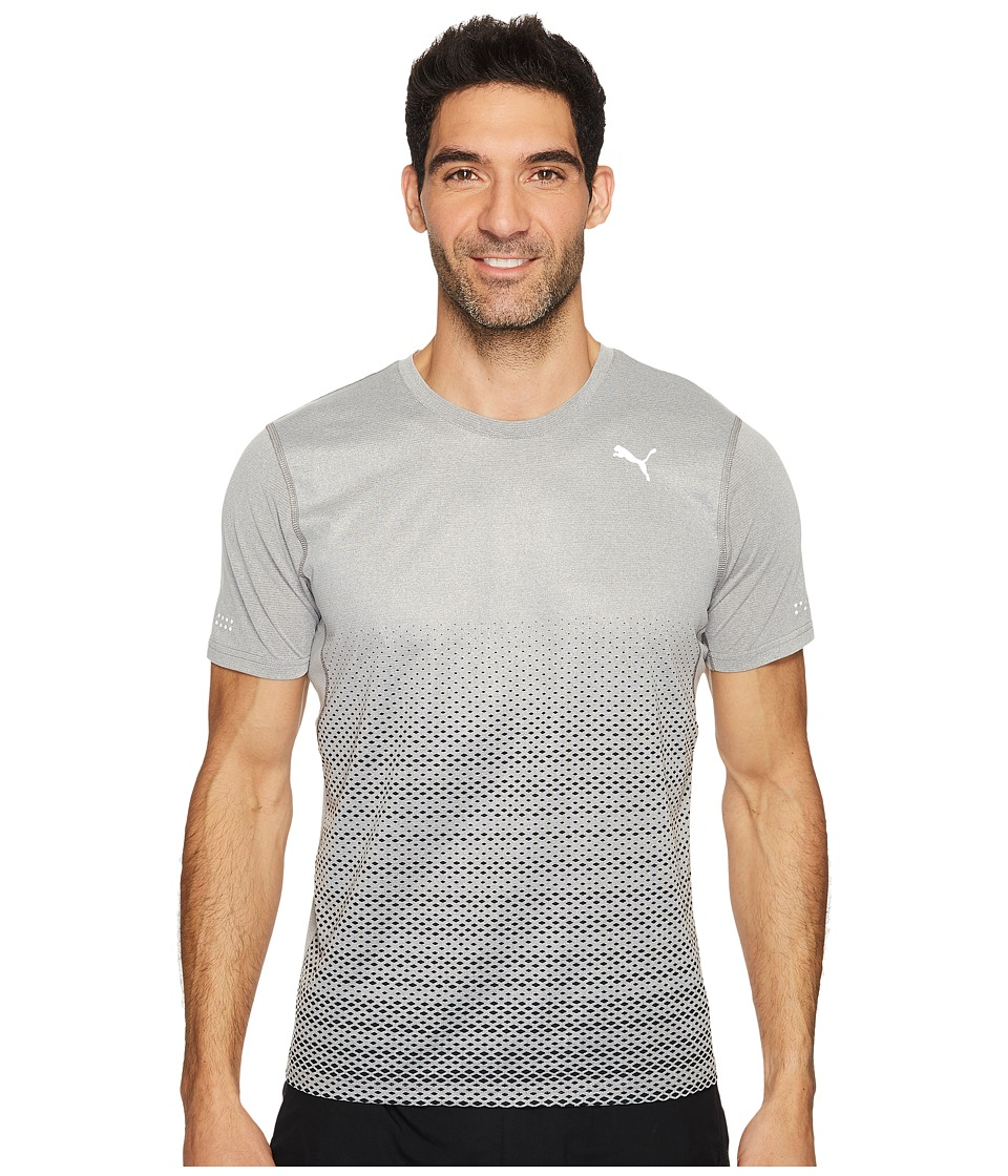 PUMA - Graphic Short Sleeve Tee (Medium Gray Heather) Men's T Shirt