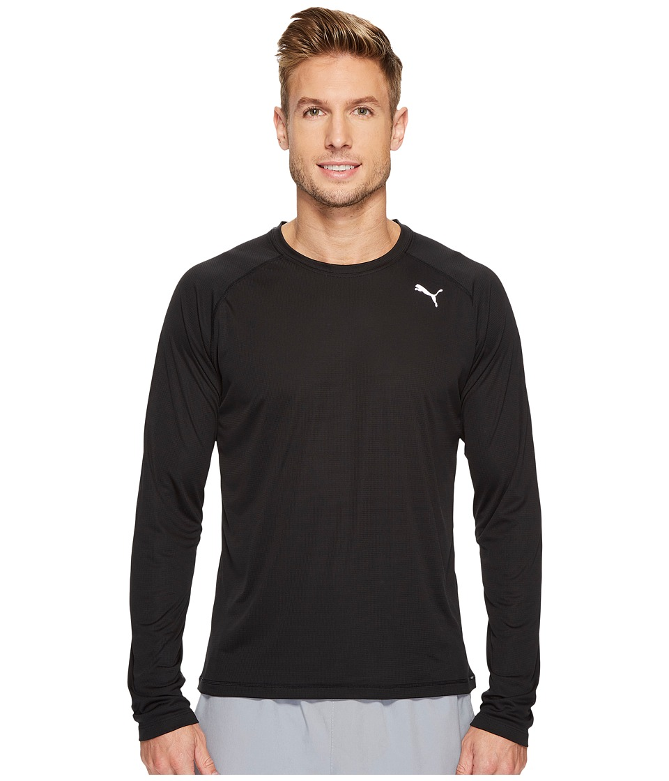 PUMA - Core-Run Long Sleeve Tee (PUMA Black) Men's T Shirt