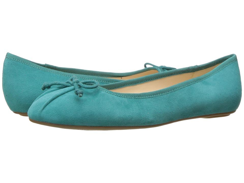Nine West Batoka Ballerina Flat (Dark Turquoise Suede) Women