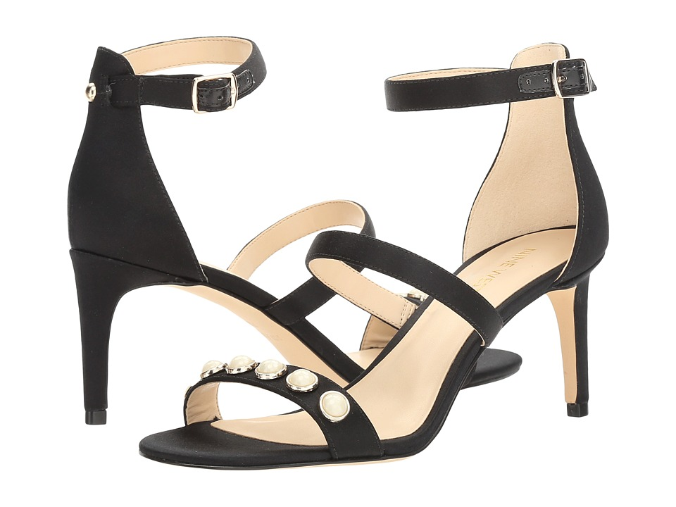 Nine West Austen 2 (Black Satin) Women