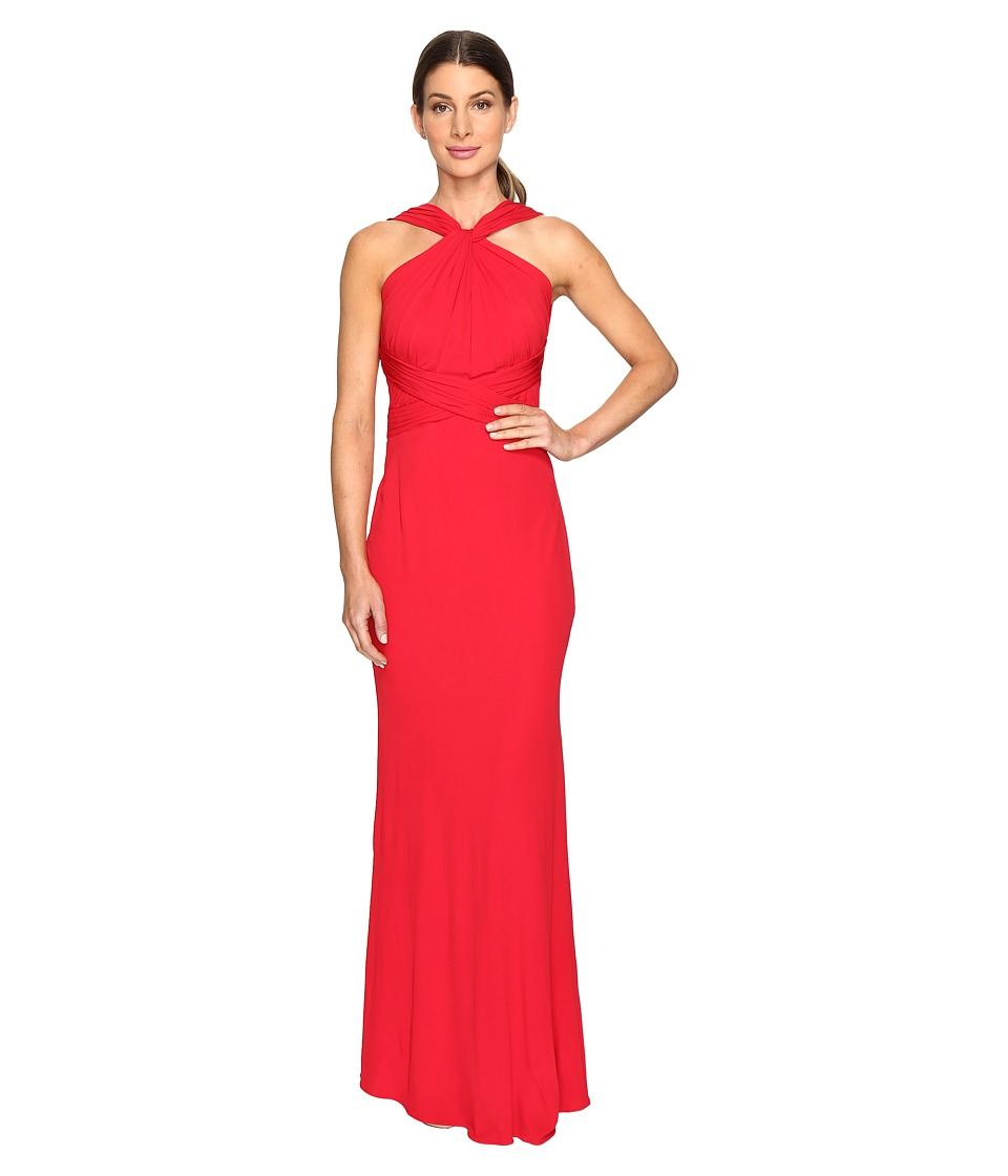 Badgley Mischka - Jersey Pull Through Gown (Red) Women's Dress