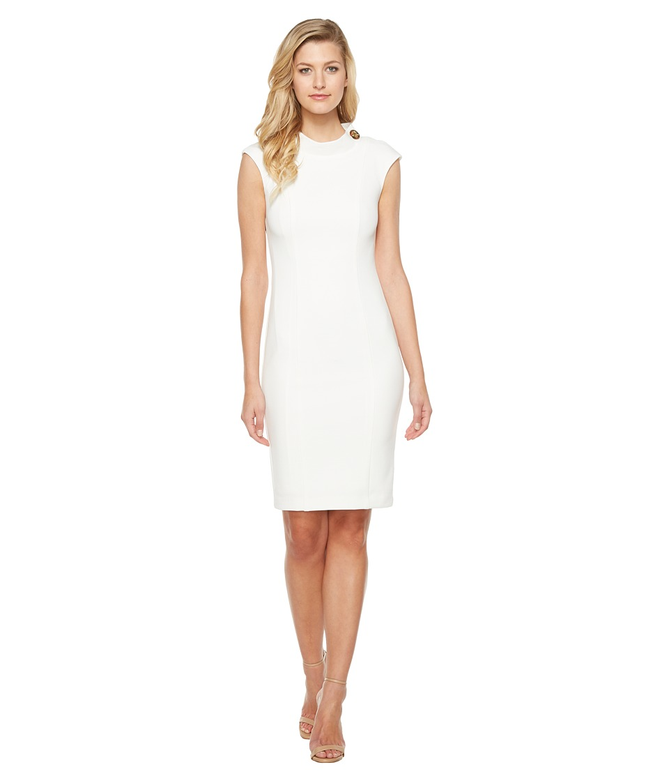 Badgley Mischka - Turn Lock Sheath (Ivory) Women's Dress
