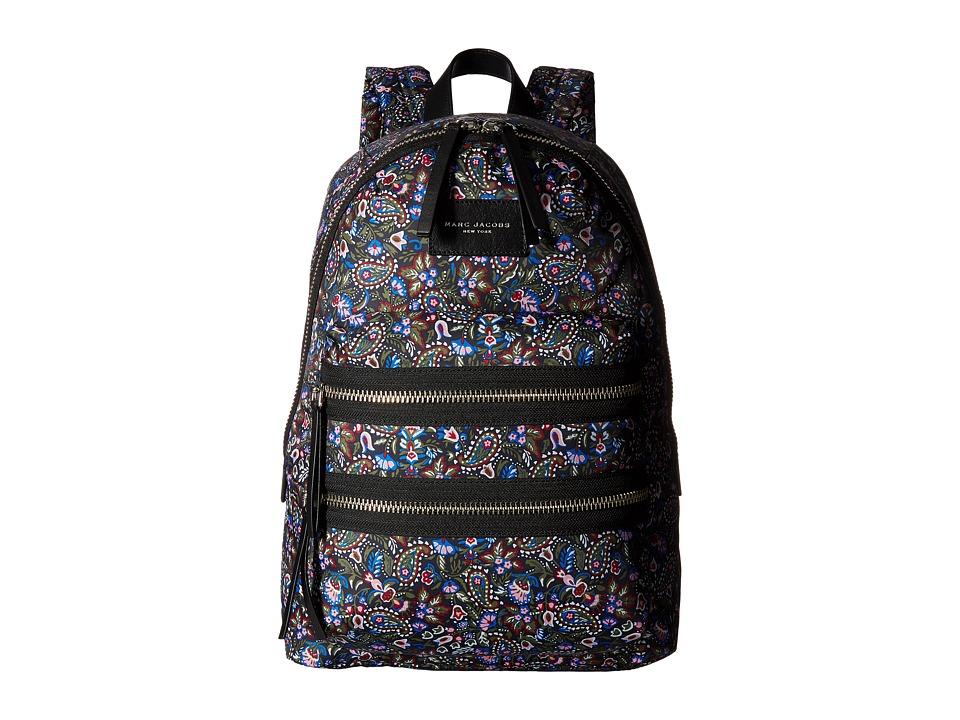 Marc Jacobs - Garden Paisley Printed Biker Backpack (Purple Multi) Backpack Bags