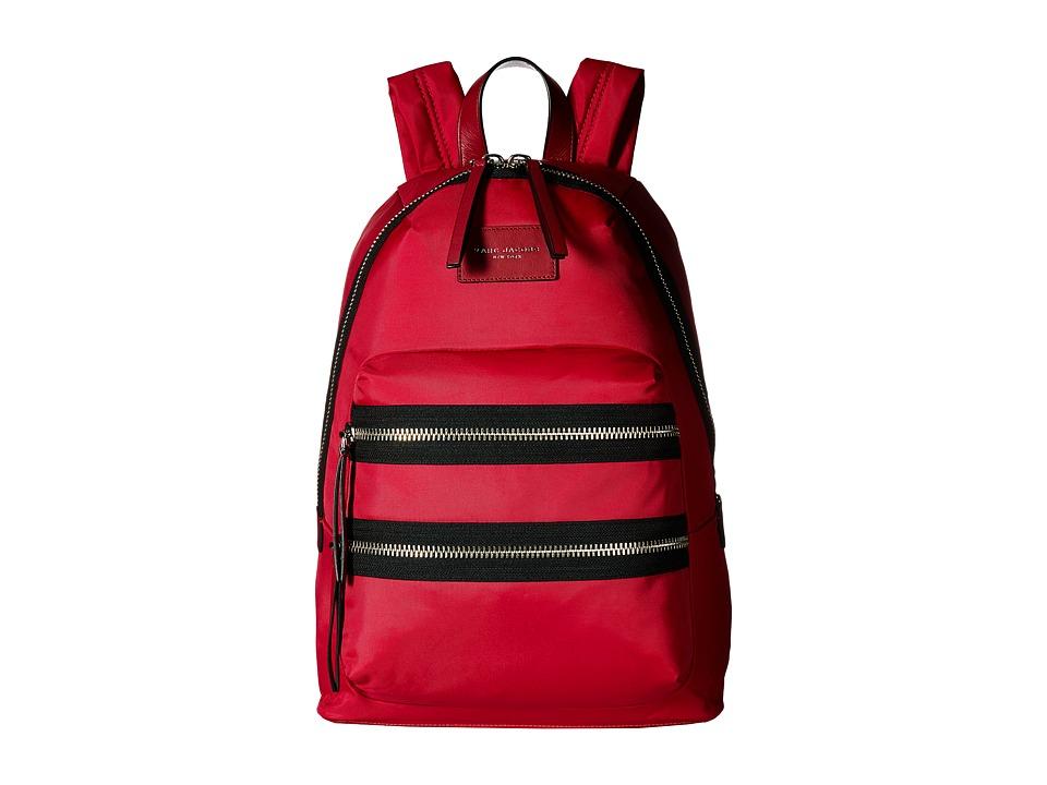 Marc Jacobs - Nylon Biker Backpack (Raspberry) Backpack Bags