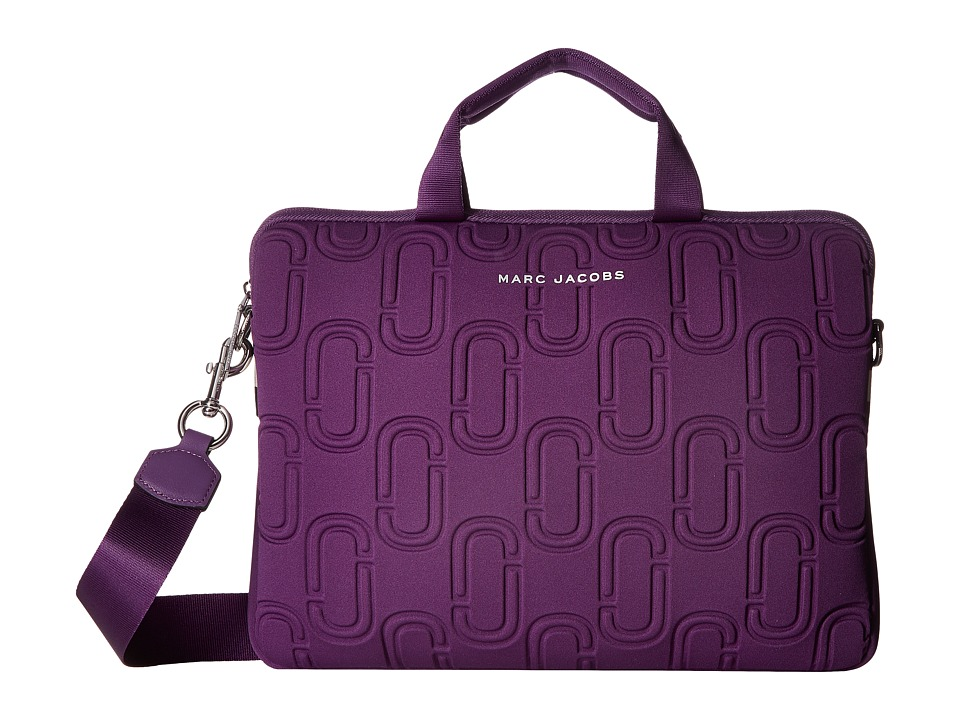 Marc Jacobs - 13 Double J Neoprene Commuter Case (Purple) Wallet