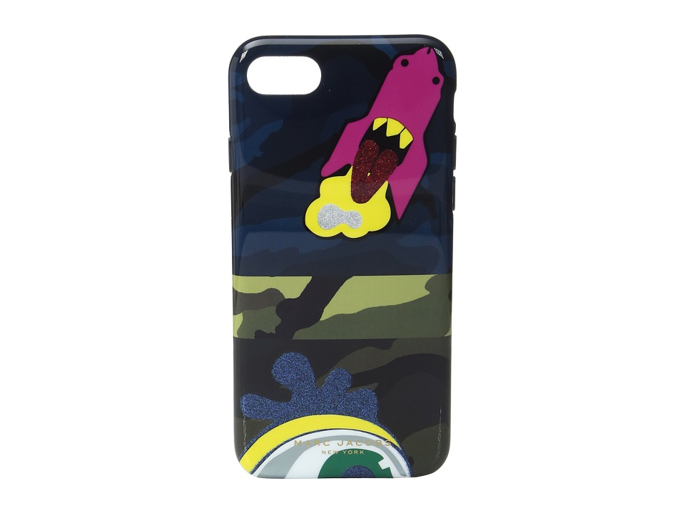 Marc Jacobs - Camo Julie Verhoeven iphone 7 Case (Navy Multi) Cell Phone Case