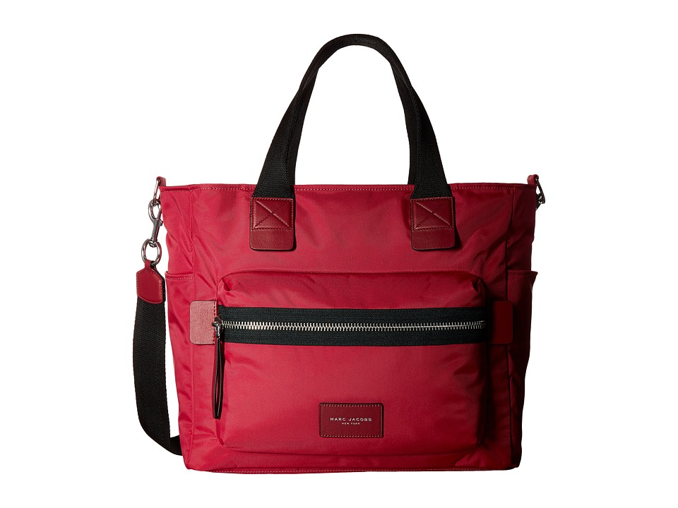 Marc Jacobs - Nylon Biker Babybag (Raspberry) Handbags