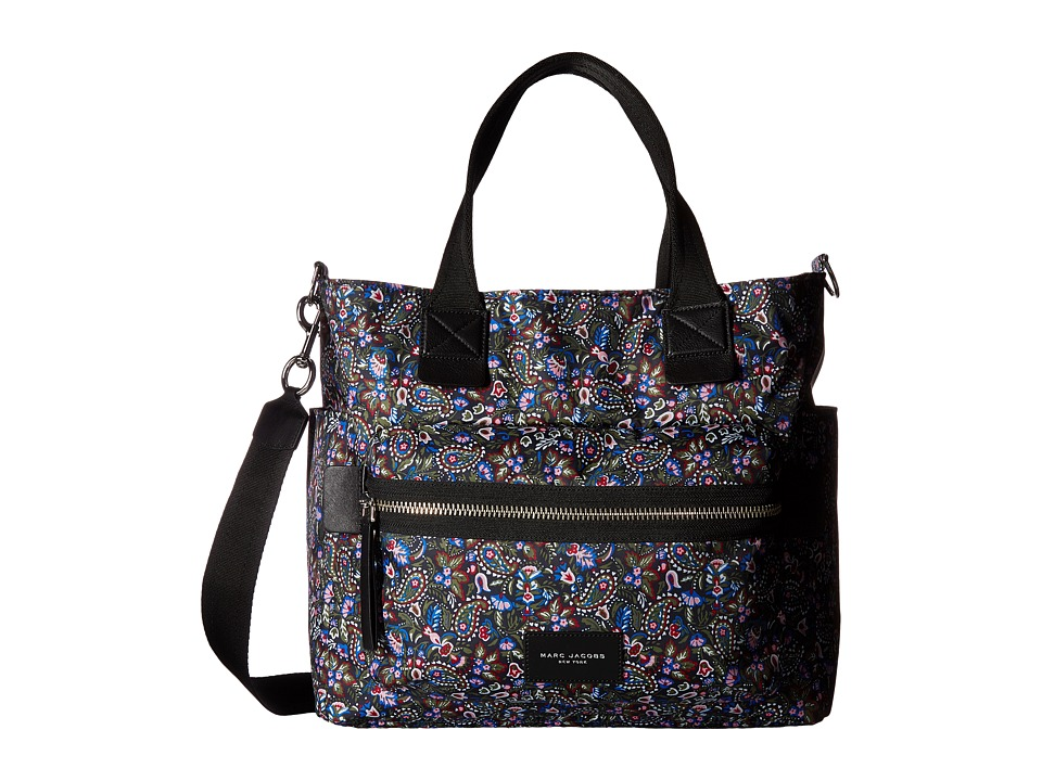 Marc Jacobs - Garden Paisley Printed Biker Babybag (Purple Multi) Bags