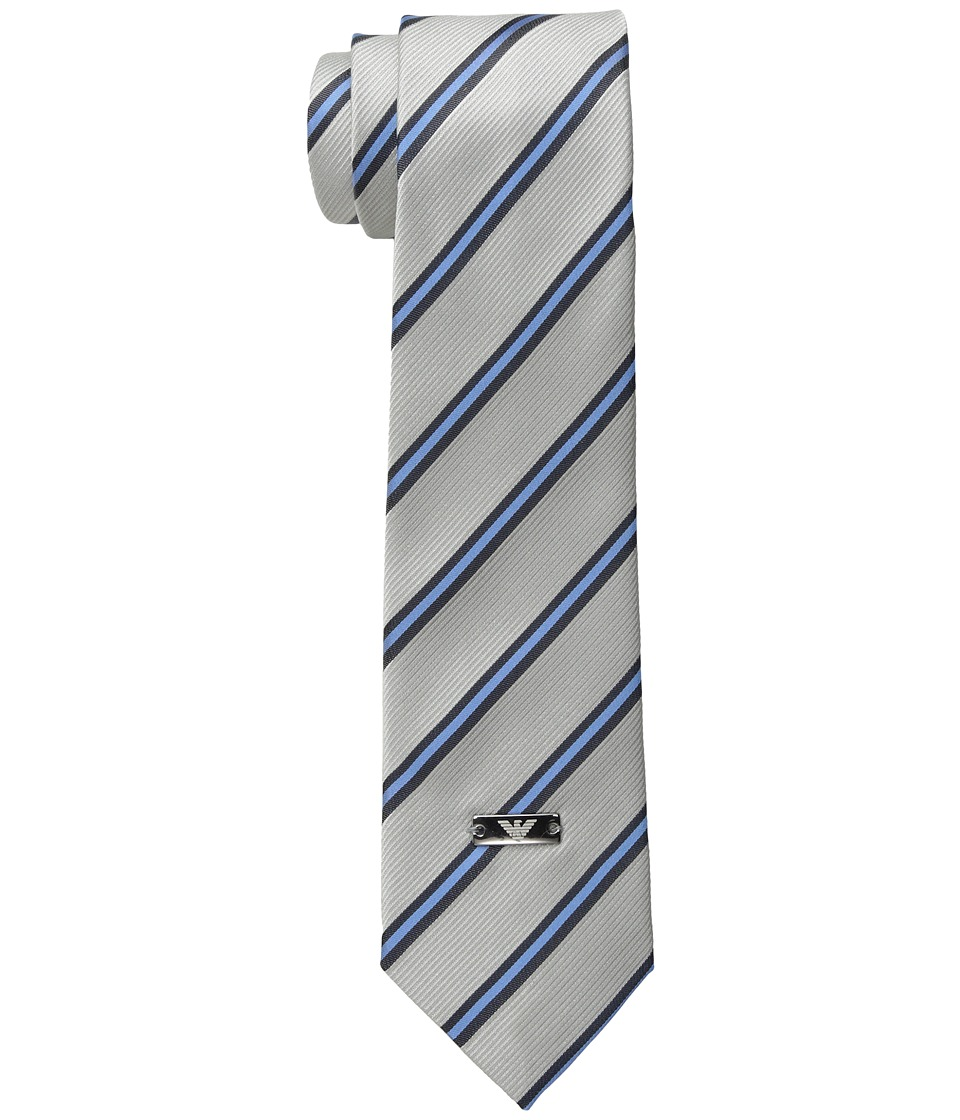 Armani Junior - Striped Tie (Gray/Blue) Ties