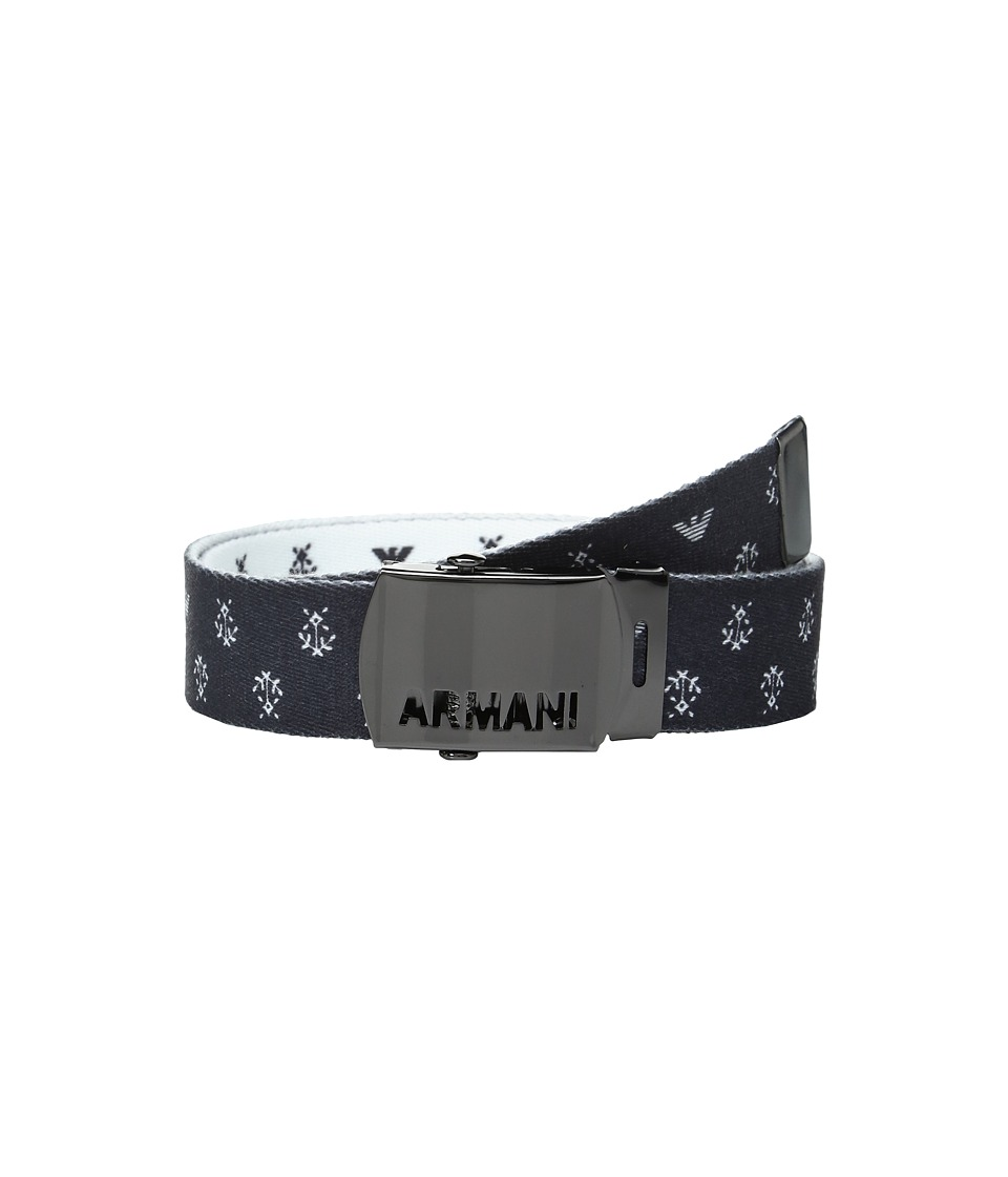 Armani Junior - Fabric Belt with Logo Buckle (Big Kids) (Multi) Boy's Belts