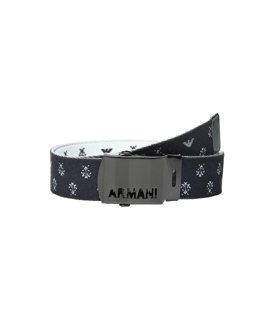 Armani Junior - Fabric Belt with Logo Buckle (Big Kids) (Multi) Boy's Belts