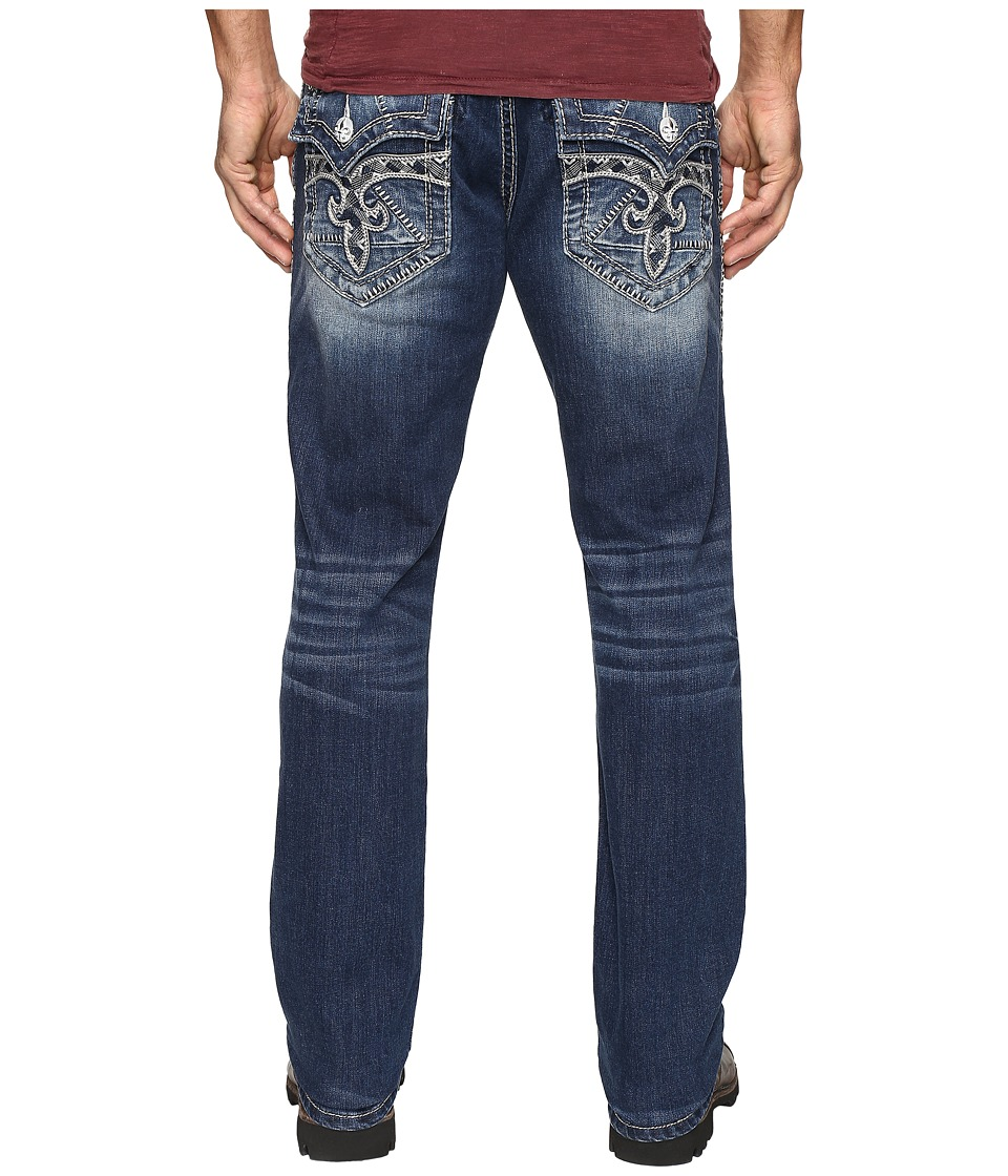 Rock Revival - Steven J73 (Medium Blue) Men's Jeans