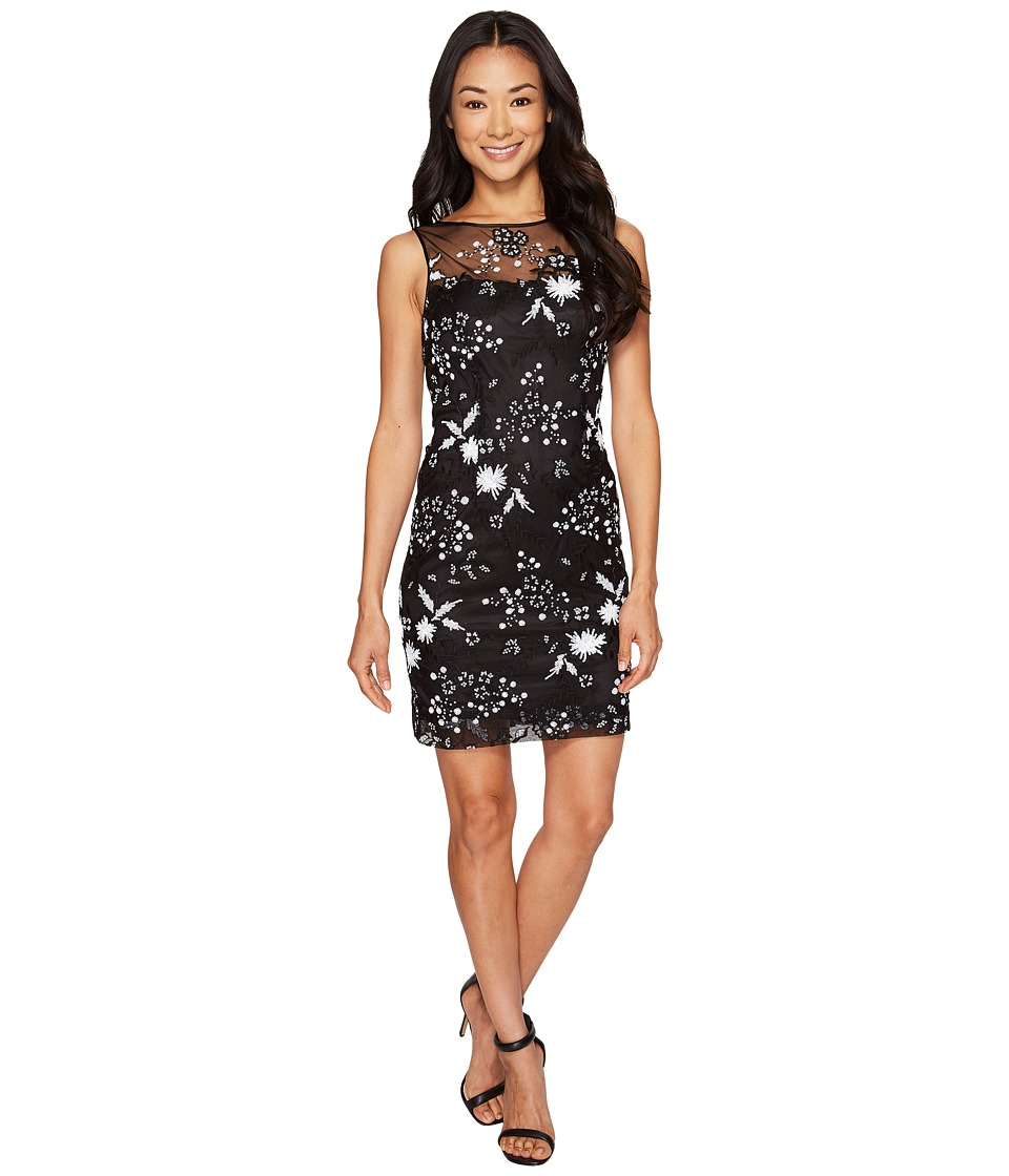 Tahari by ASL Petite - Petite Sequin Sheath Dress (Black/White) Women's Dress