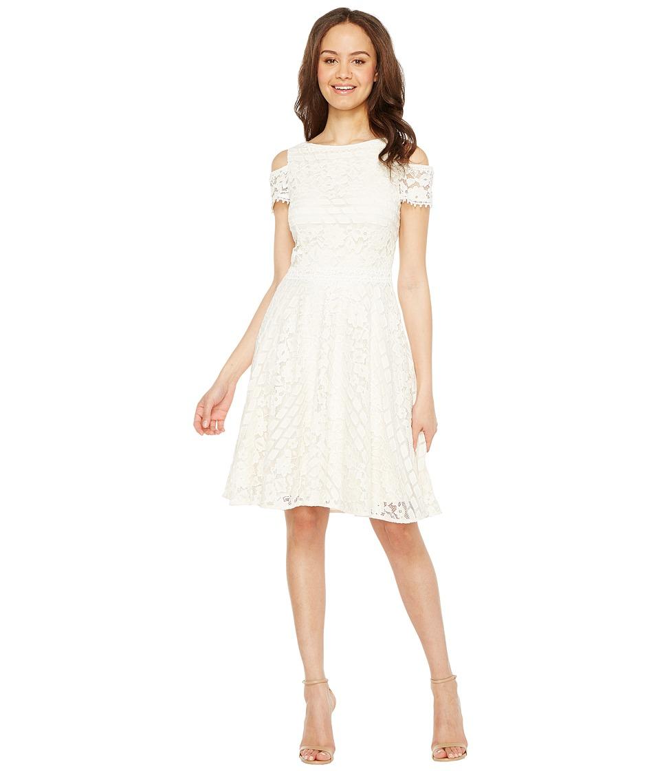 Tahari by ASL Cold Shoulder Lace Dress