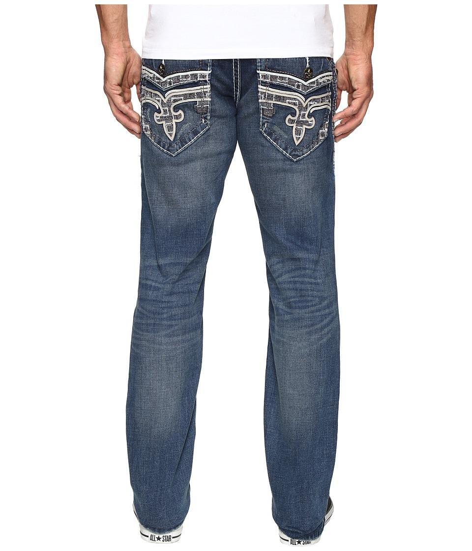 Rock Revival - Rumo J402 (Dark Blue) Men's Jeans
