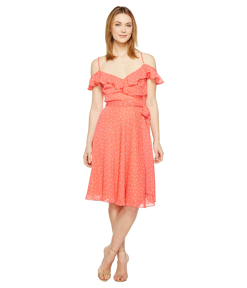 Tahari by ASL - Dotted Sundress (Coral/White) Women's Dress