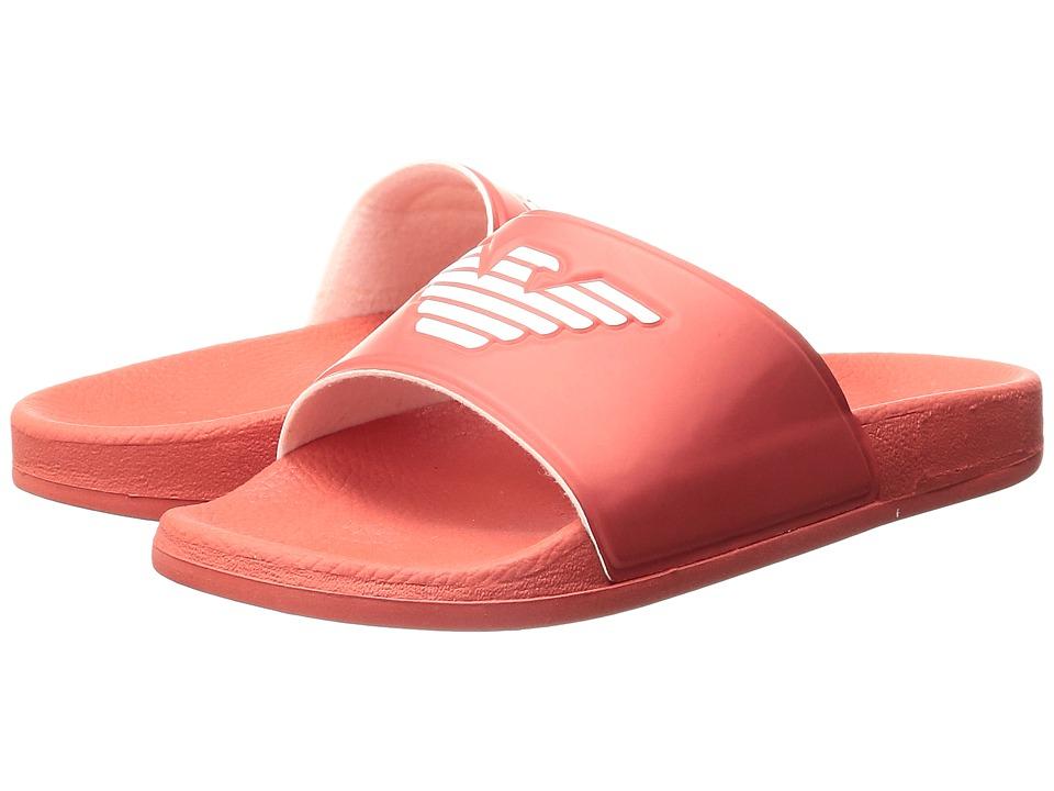 Armani Junior - Logo Slide-On (Toddler/Little Kid/Big Kid) (Red) Boys Shoes