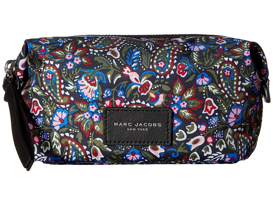 Marc Jacobs - Garden Paisley Printed Biker Cosmetics Landscape Pouch (Purple Multi) Travel Pouch