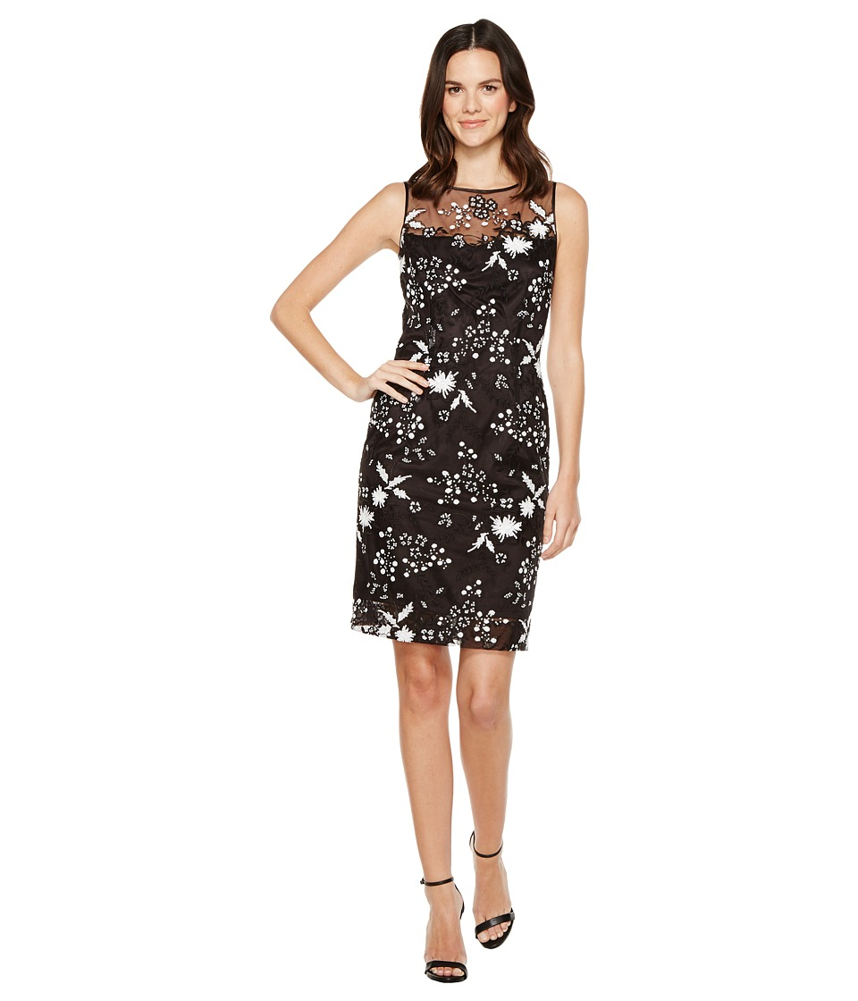 Tahari by ASL - Sequin Sheath Dress (Black/White) Women's Dress