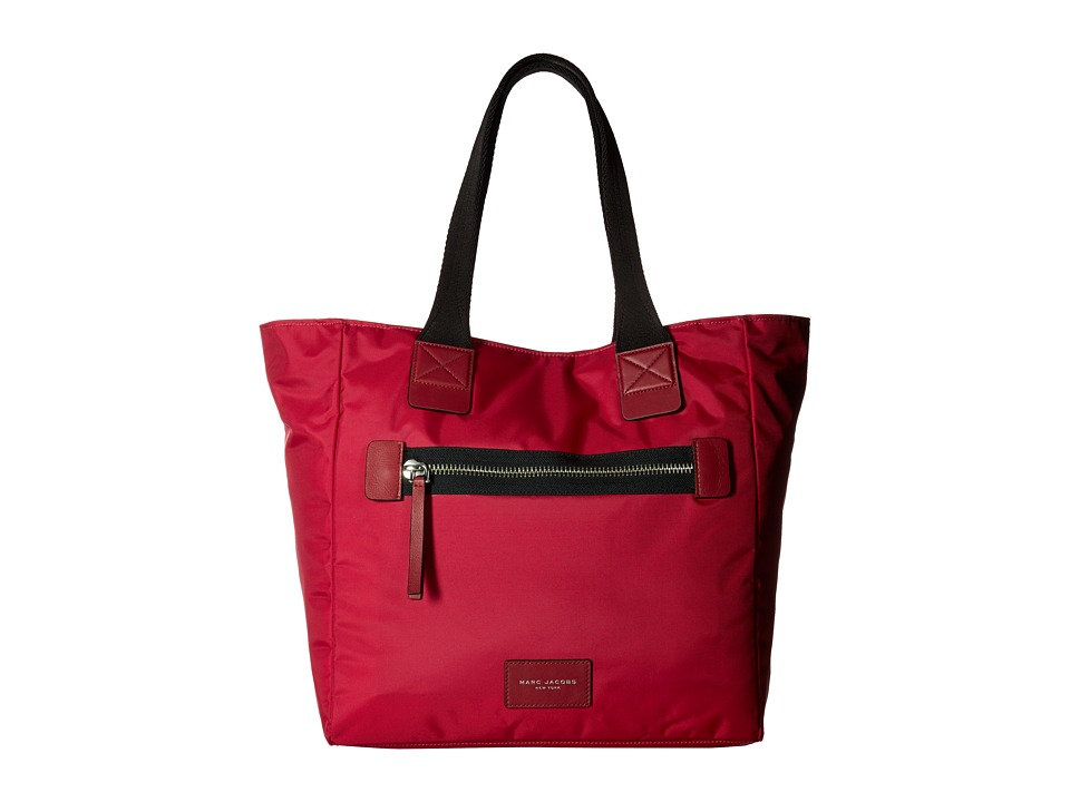 Marc Jacobs - Nylon Biker North/South Tote (Raspberry) Tote Handbags