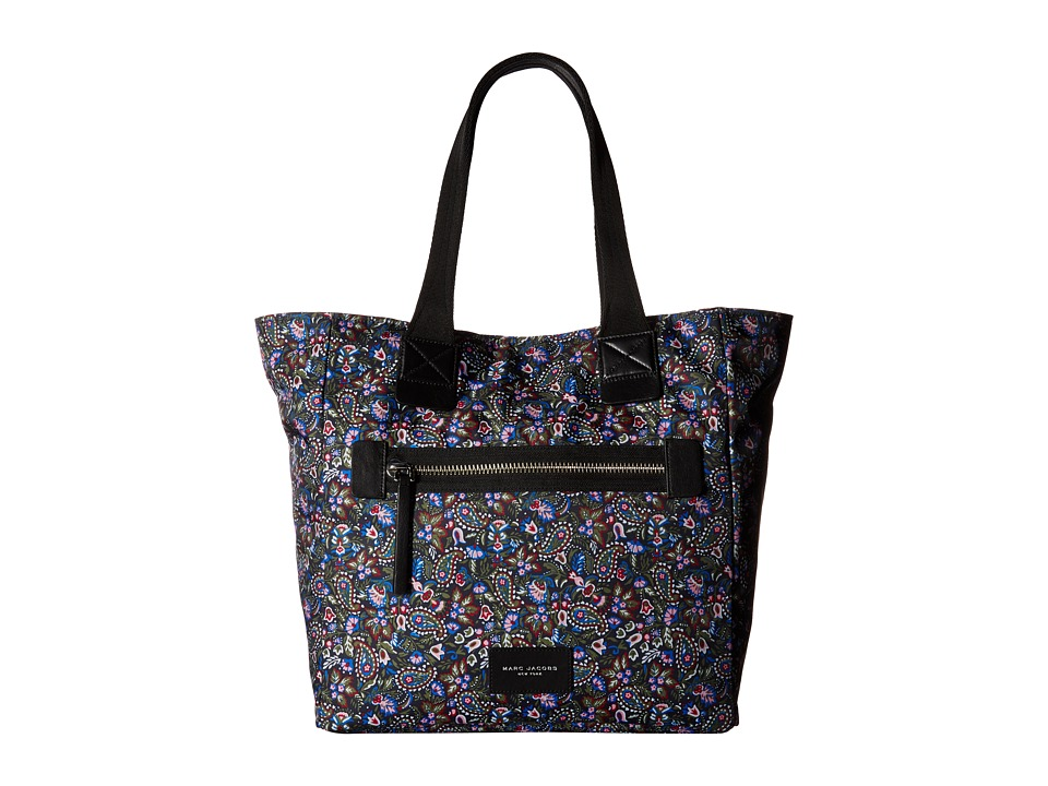 Marc Jacobs - Garden Paisley Printed Biker North/South Tote (Purple Multi) Tote Handbags