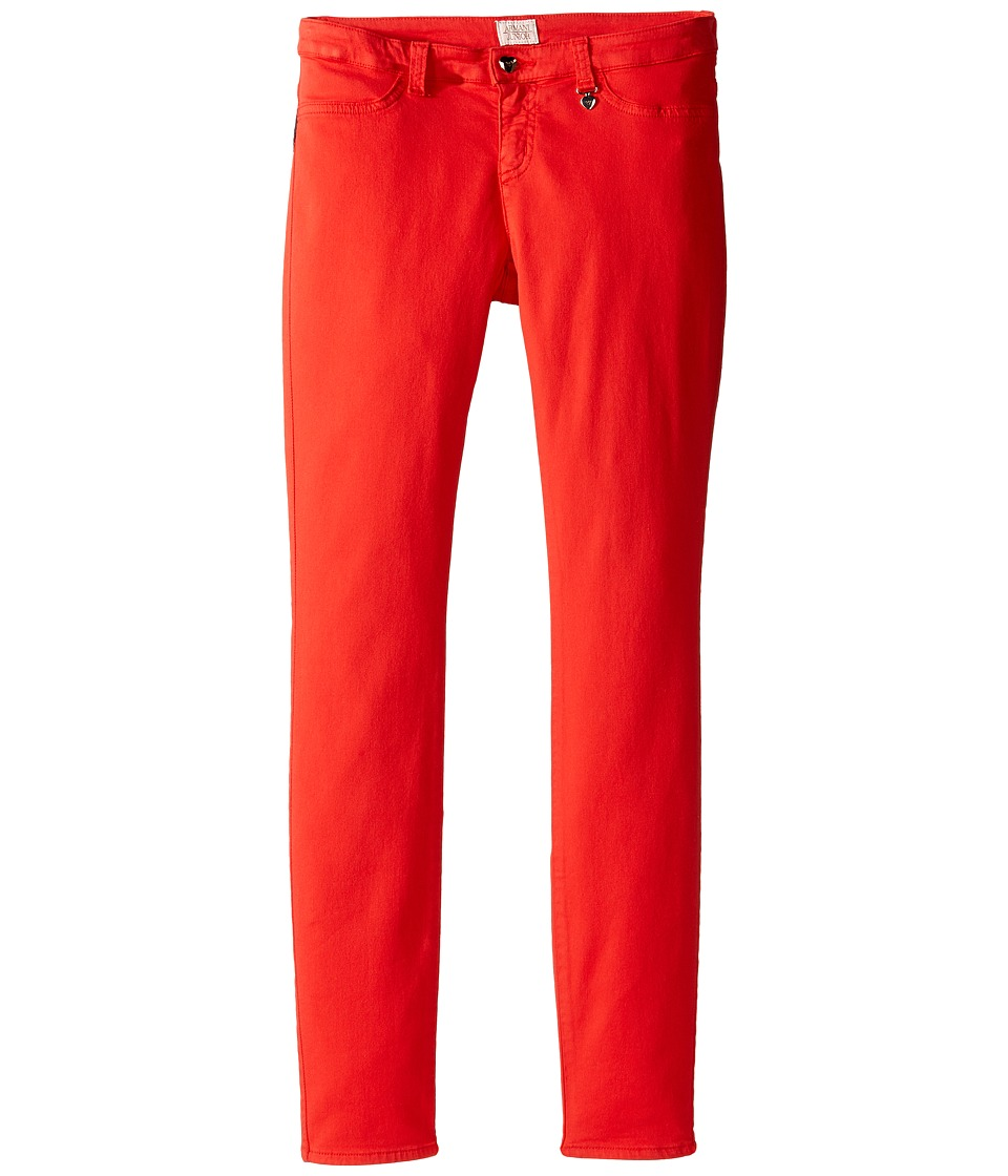 Armani Junior - Stretch Jegging (Big Kids) (Red) Girl's Casual Pants