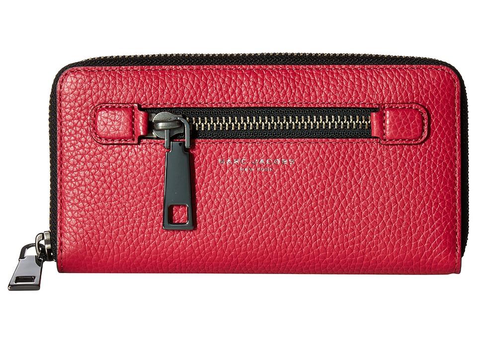 Marc Jacobs - Gotham Continental Wallet (Raspberry) Wallet Handbags