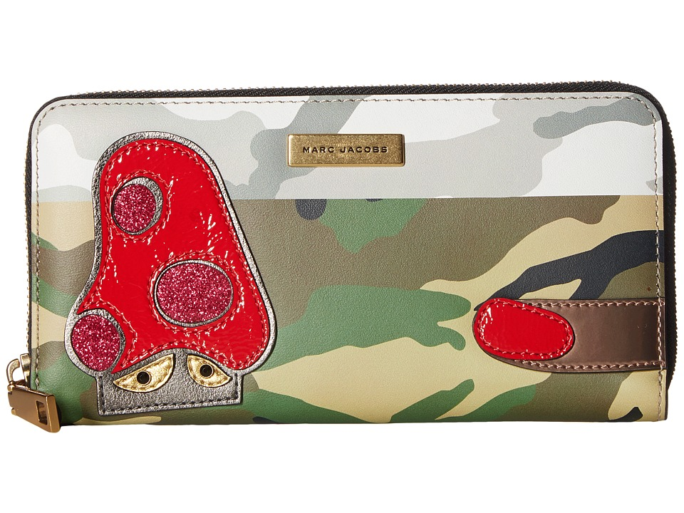 Marc Jacobs - Camo Julie Verhoeven Standard Continental Wallet (Khaki Multi) Wallet Handbags