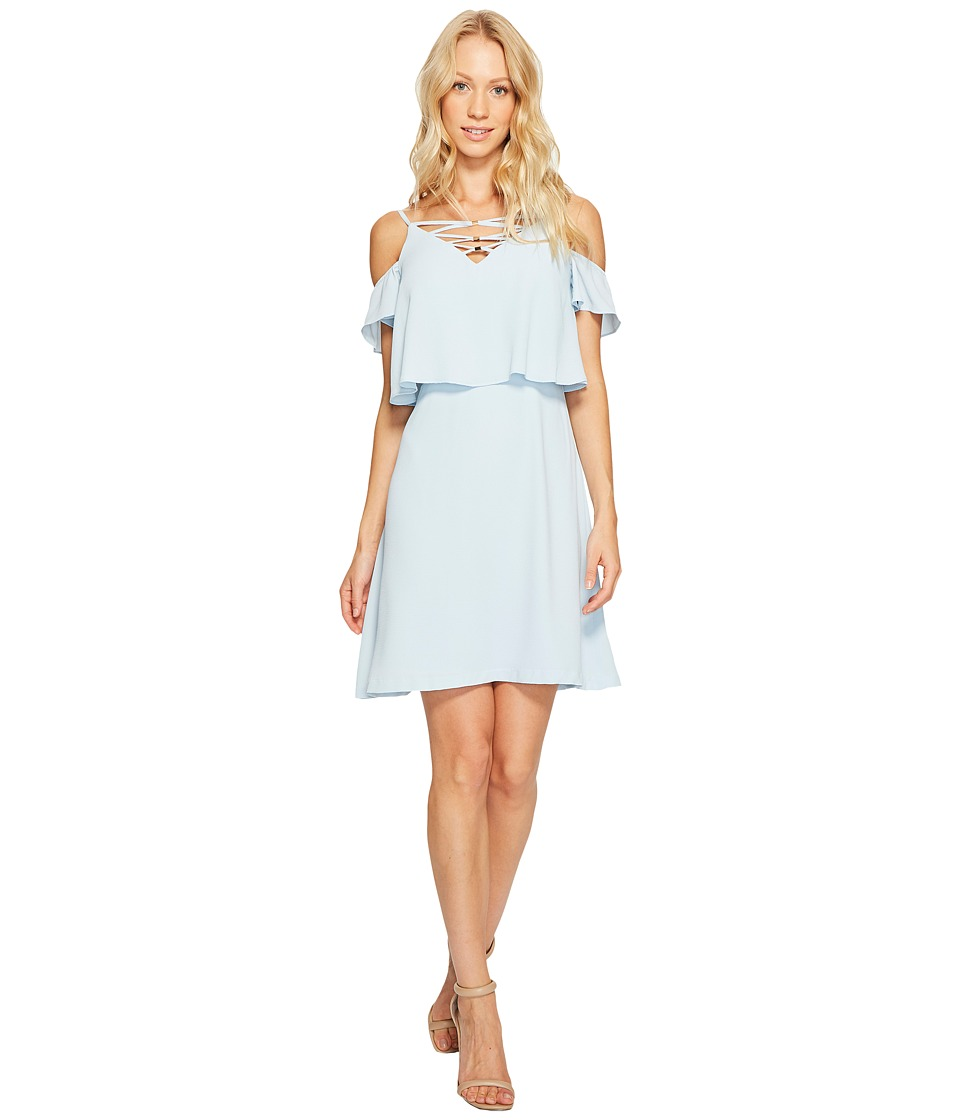 Jessica Simpson - Lace-Up Cold Shoulder Dress (Light Blue) Women's Dress