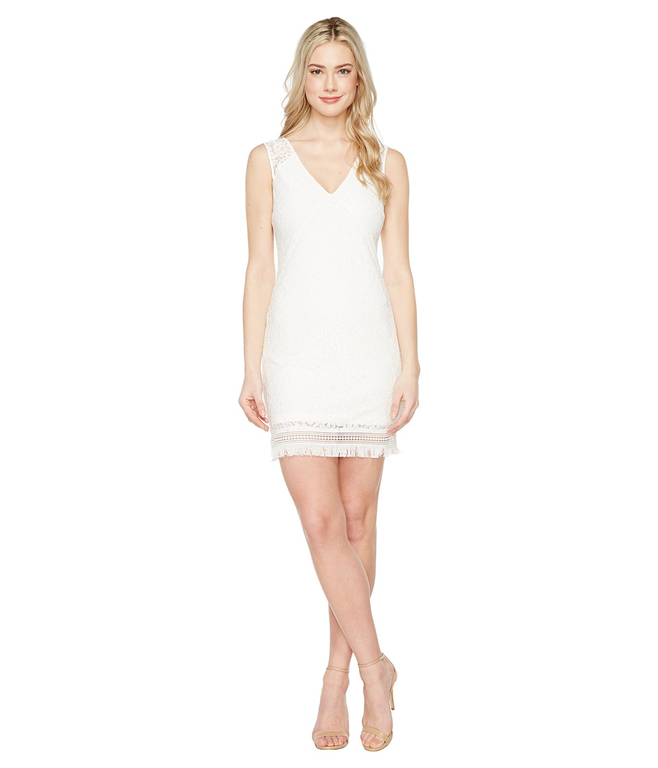 Jessica Simpson - Corded Floral Lace Dress (White) Women's Dress