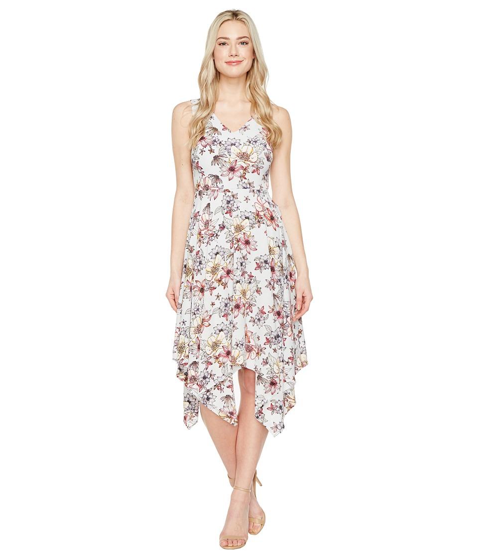 Jessica Simpson - Printed Ruffle Dress (Print) Women's Dress