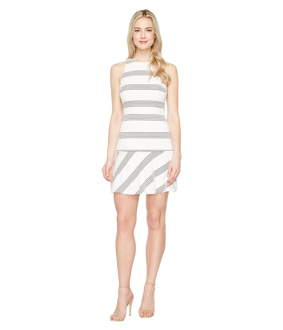 Jessica Simpson - Textured Knit Drop Waist Dress (Stripe) Women's Dress
