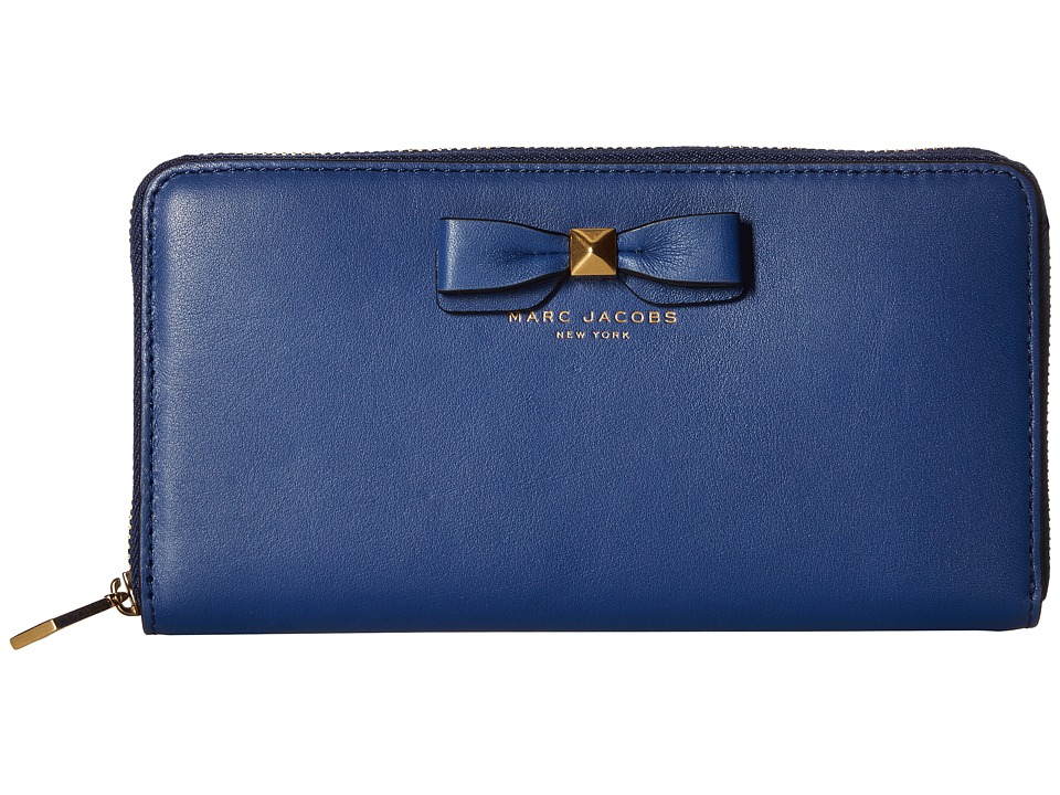 Marc Jacobs - Bow Standard Continental Wallet (Blue) Continental Wallet