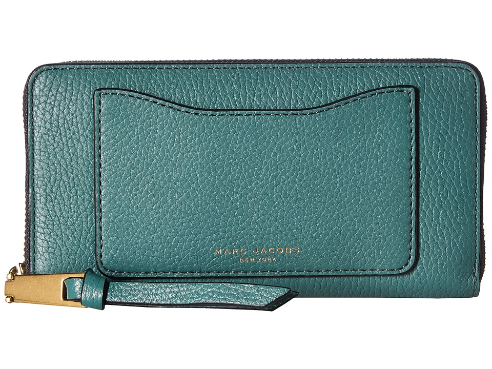 Marc Jacobs - Recruit Standard Continental Wallet (Hazy Blue) Wallet Handbags