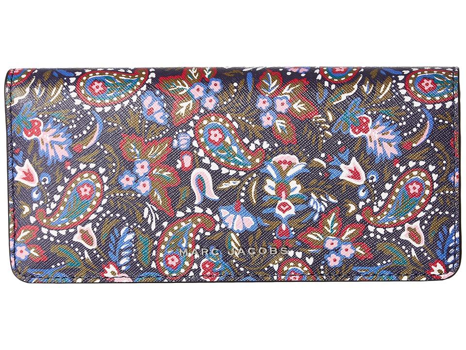 Marc Jacobs - Saffiano Garden Paisley Open Face Wallet (Purple Multi) Wallet Handbags