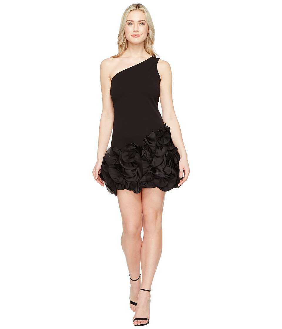 Jessica Simpson - One Shoulder Ruffle Hem Dress (Black) Women's Dress