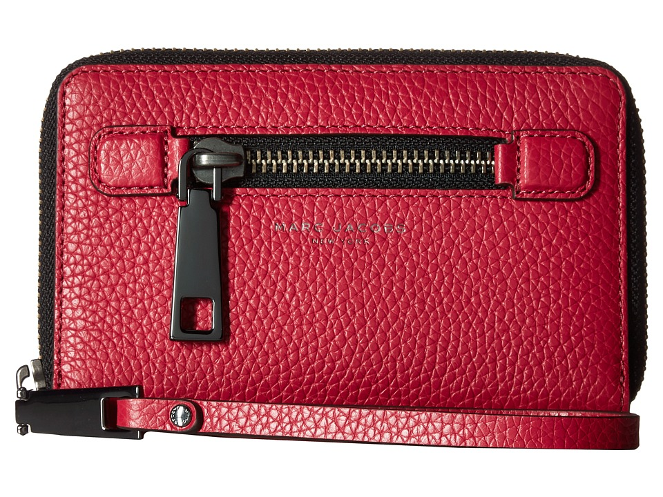 Marc Jacobs - Gotham Zip Phone Wristlet (Raspberry) Wristlet Handbags