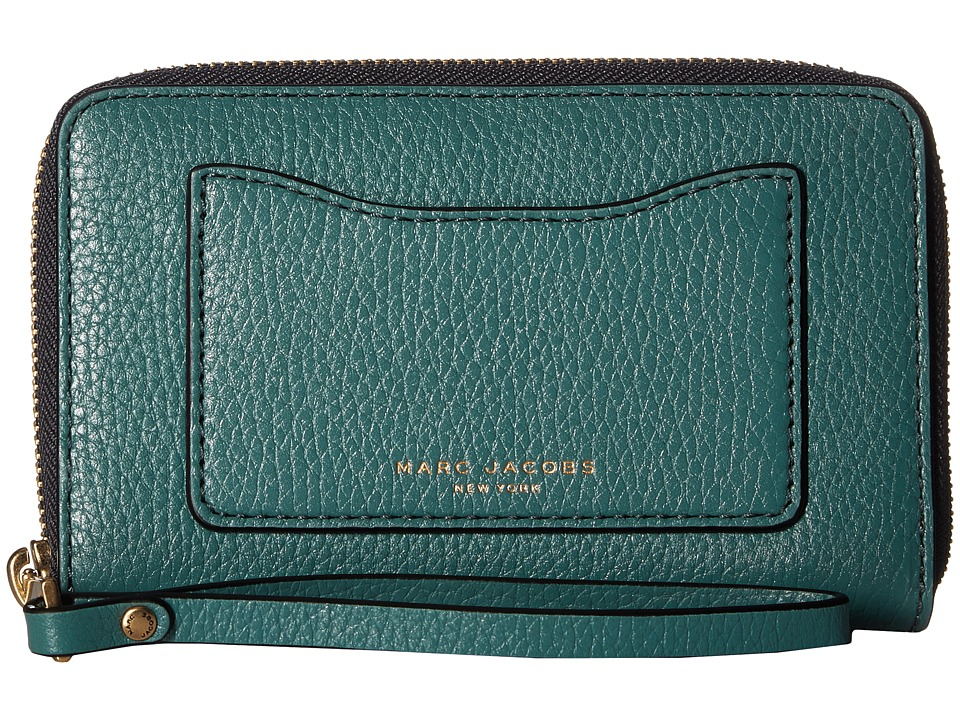 Marc Jacobs - Recruit Zip Phone Wristlet (Hazy Blue) Wristlet Handbags