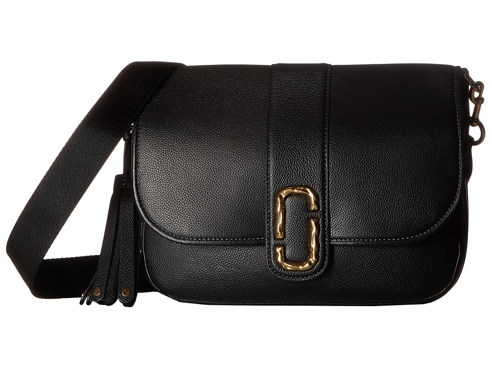 Marc Jacobs - Interlock Courier (Black) Handbags