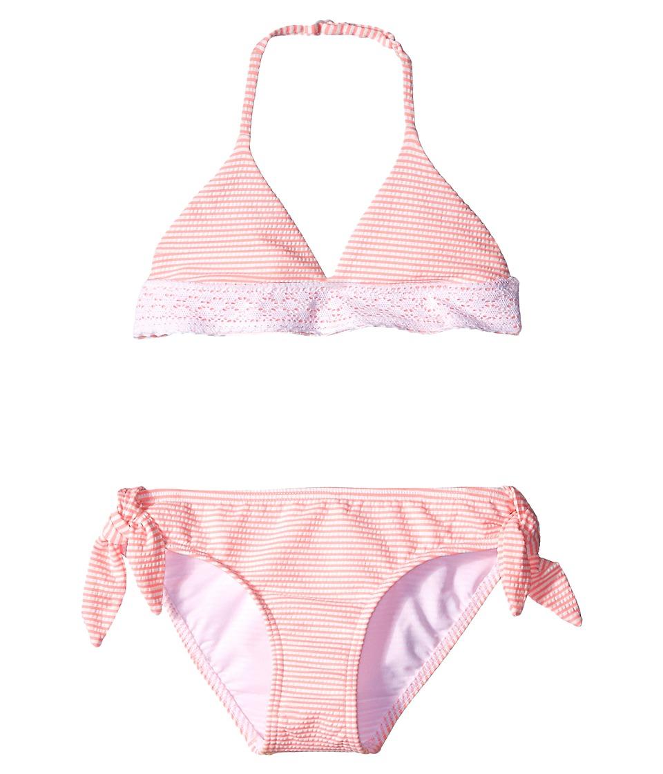 Seafolly Kids Riviera Belle Trikini Set (Little Kids/Big Kids) (Coral Pink) Girl
