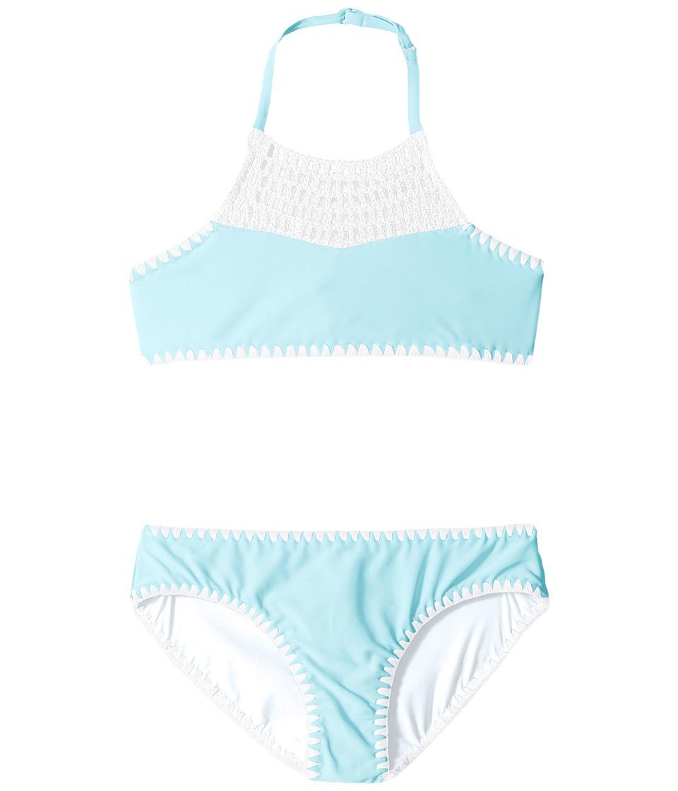 Seafolly Kids - Sundial Tankini Set (Little Kids/Big Kids) (Sea Blue) Girl's Swimwear Sets