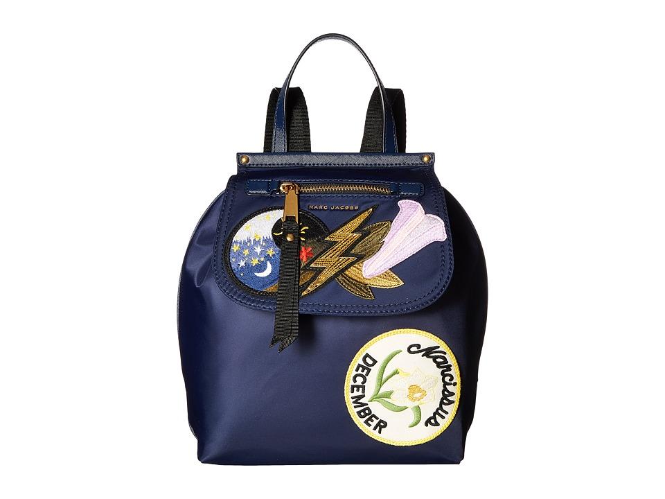 Marc Jacobs - Embellished Nylon Zip Pack (Blue) Handbags