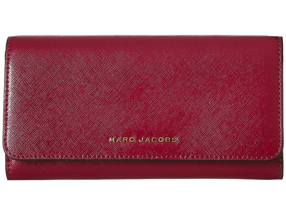 Marc Jacobs - Saffiano Tricolor Flap Continental (Berry) Handbags