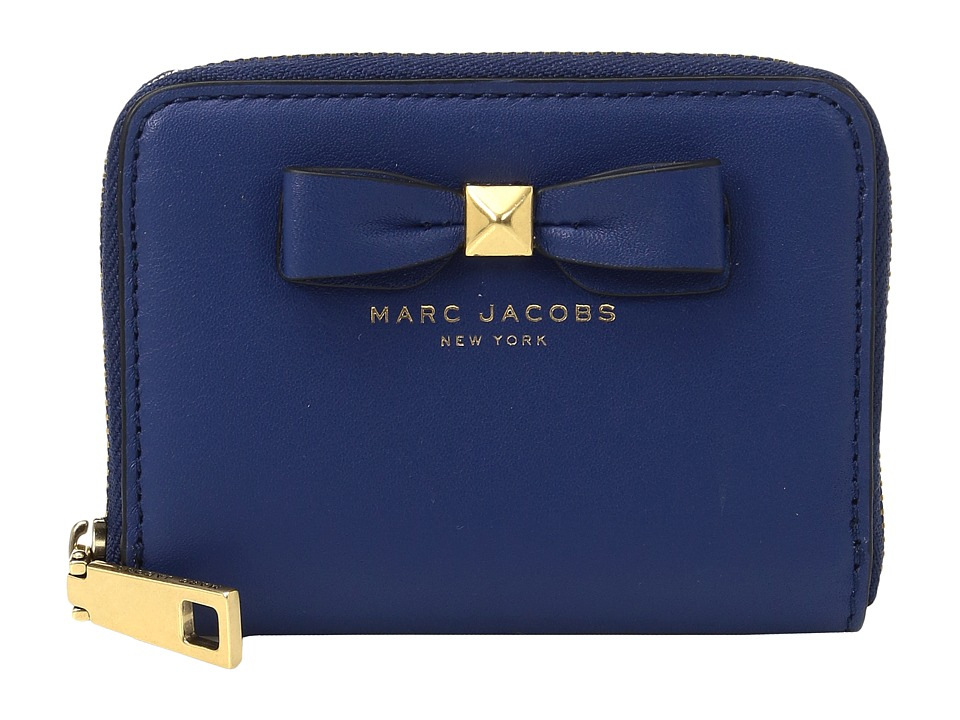 Marc Jacobs - Bow Zip Card Case (Blue) Credit card Wallet
