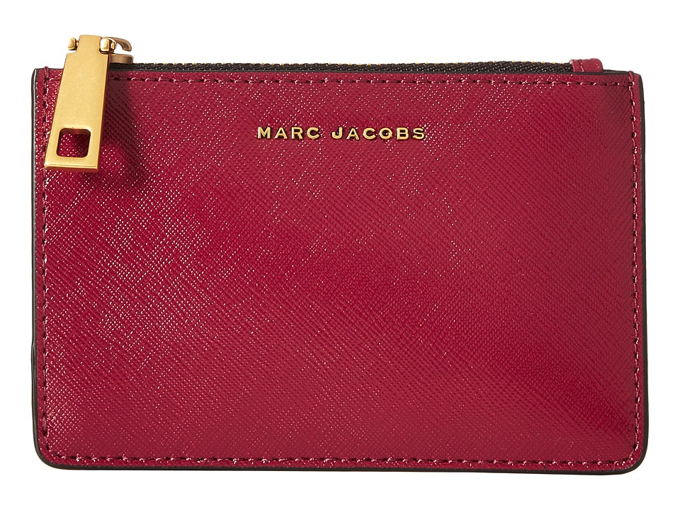 Marc Jacobs - Saffiano Tricolor Top Zip Multi Case (Berry) Handbags