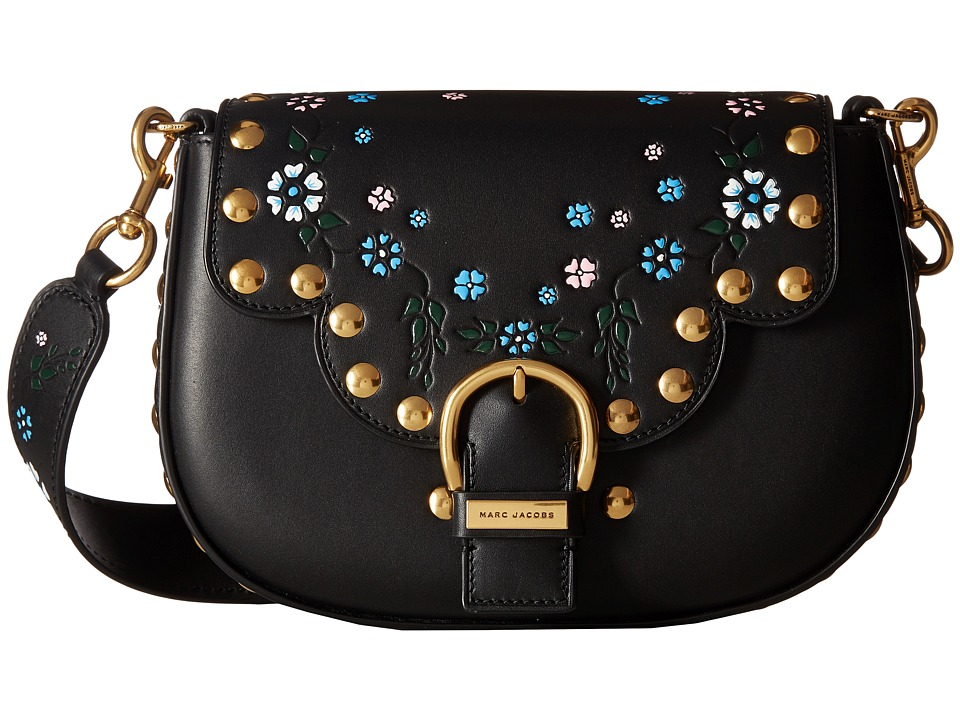 Marc Jacobs - 70s Studded Navigator (Black) Handbags