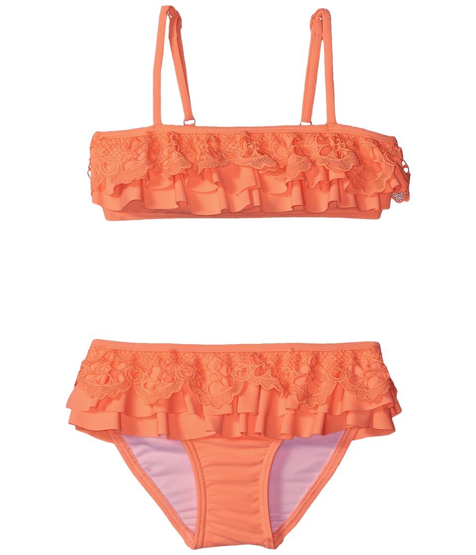 Seafolly Kids Luau Lu Lu Mini Tube Bikini (Toddler/Little Kids) (Rockmelon) Girl