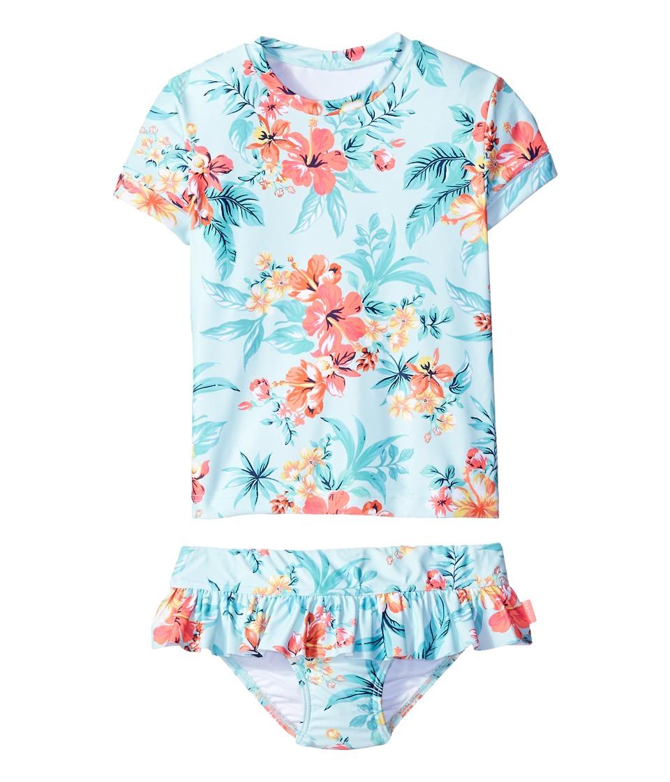 Seafolly Kids - Luau Lu Lu Rashie Set (Toddler/Little Kids) (Mint) Girl's Swimwear Sets