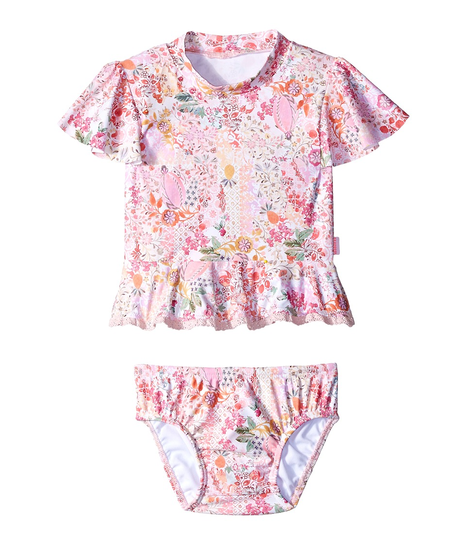 Seafolly Kids - Prairie Girl Rashie Set (Infant/Toddler) (Ballet Pink) Girl's Swimwear Sets
