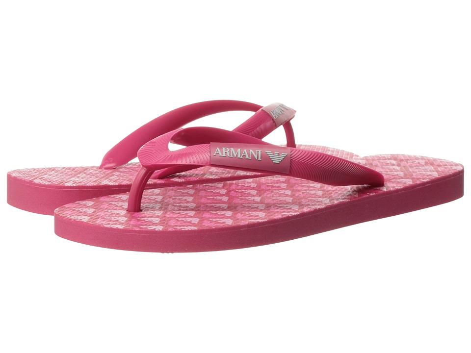 Armani Junior - Flip-Flop (Toddler/Little Kid/Big Kid) (Pink) Girls Shoes